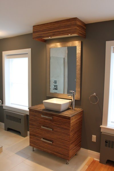 Best Custom Bamboo Vanity and bulkhead